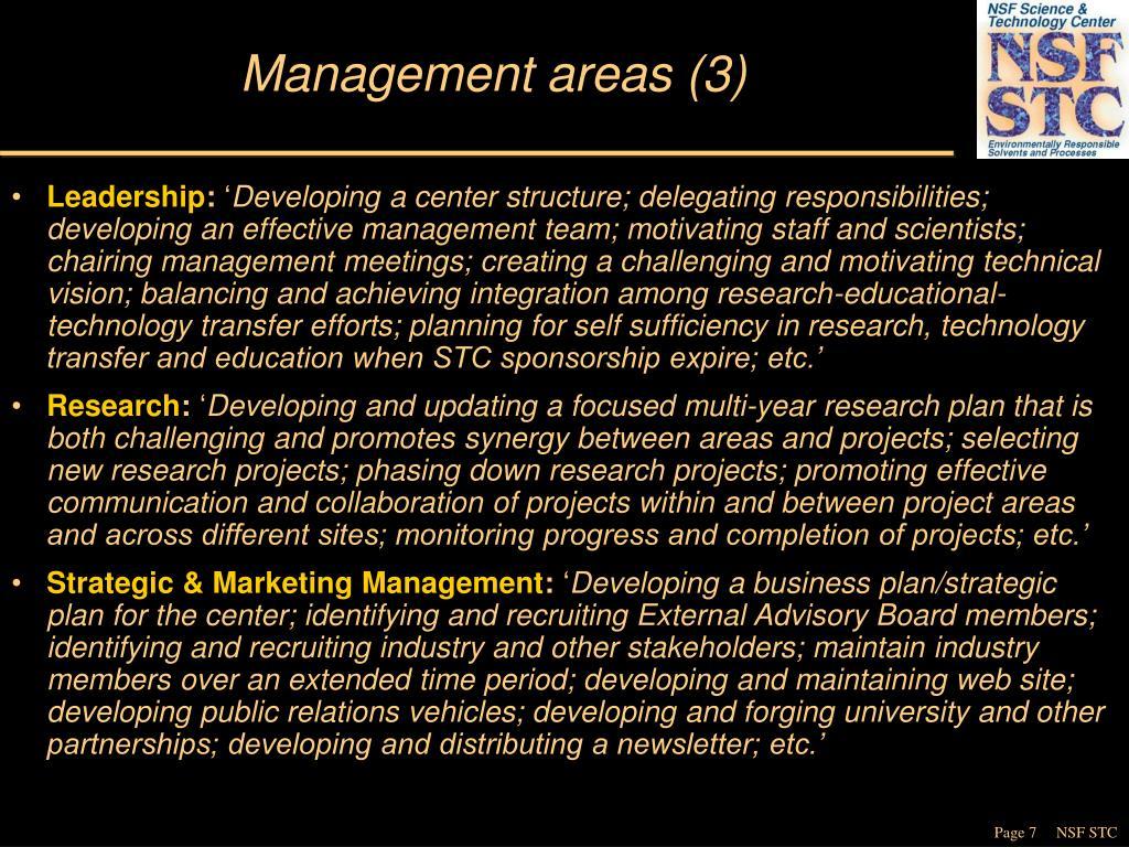 Management areas (3)