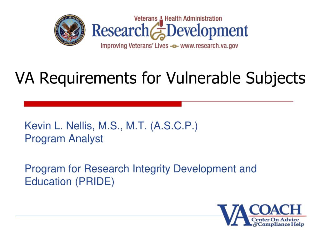 va requirements for vulnerable subjects l.