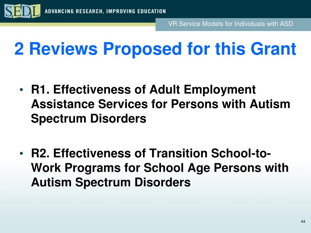 2 Reviews Proposed for this Grant