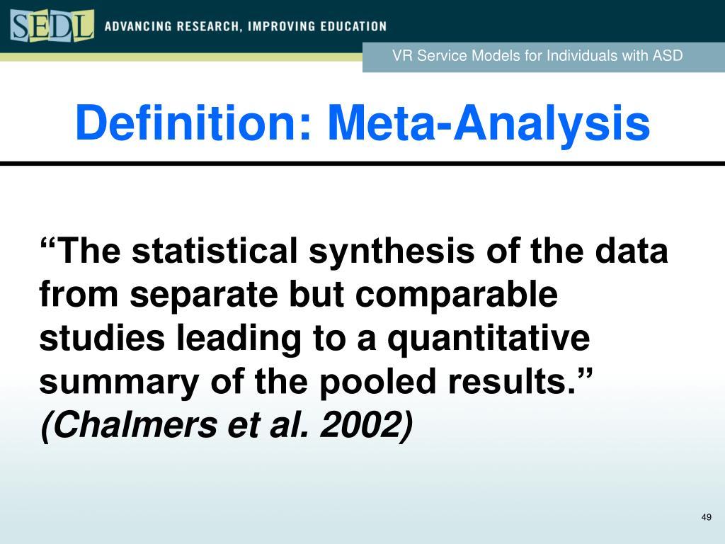 Definition: Meta-Analysis