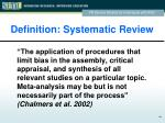 definition systematic review