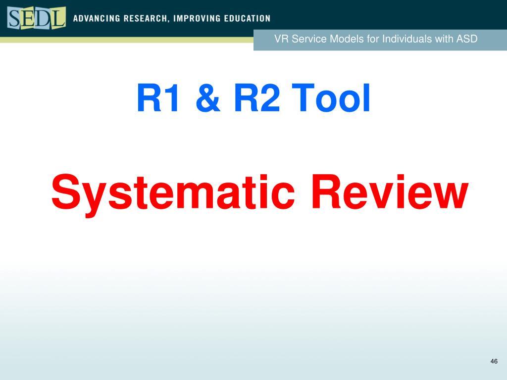 R1 & R2 Tool
