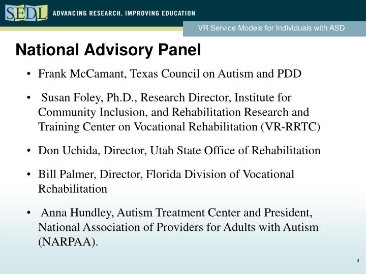 Frank McCamant, Texas Council on Autism and PDD