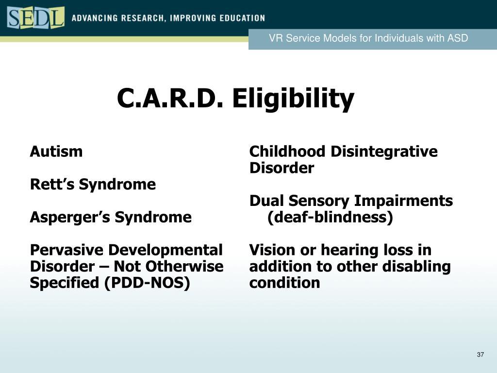 C.A.R.D. Eligibility
