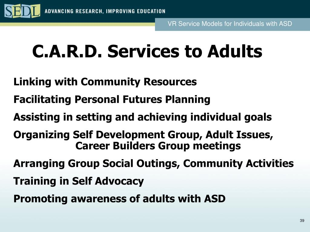 C.A.R.D. Services to Adults