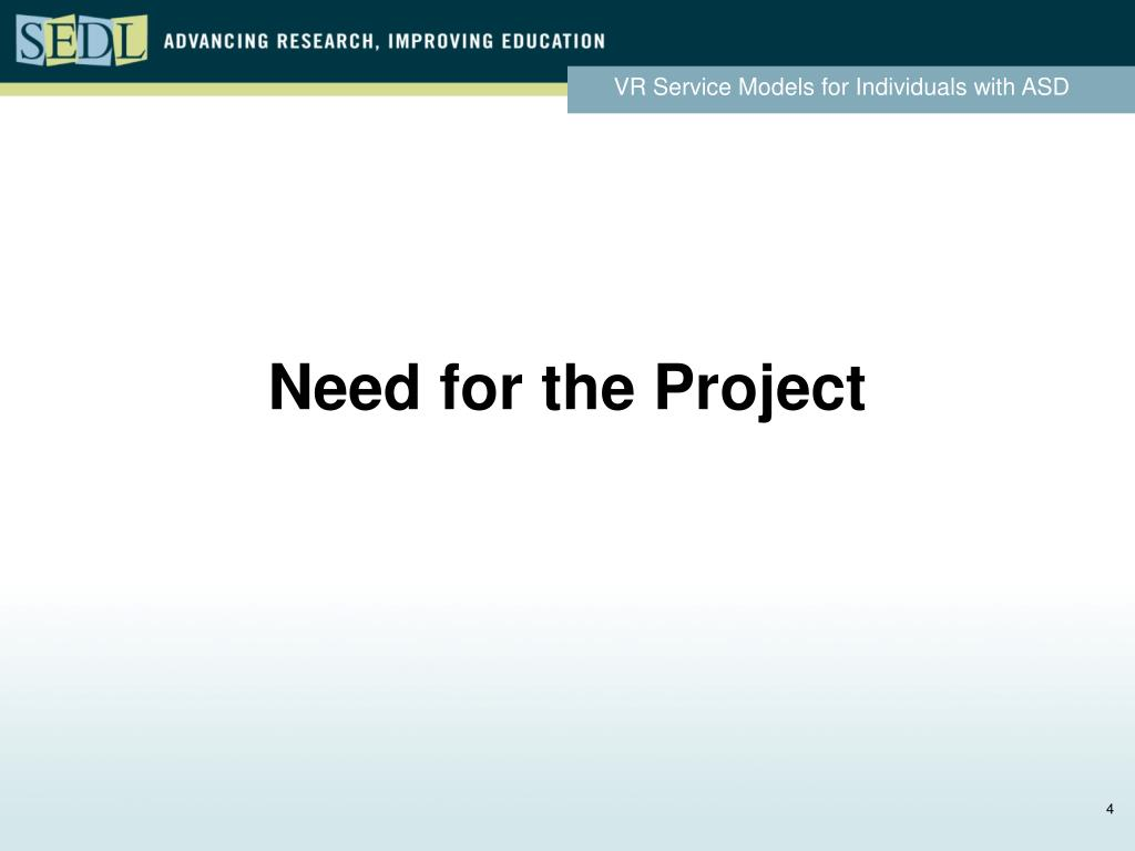 Need for the Project