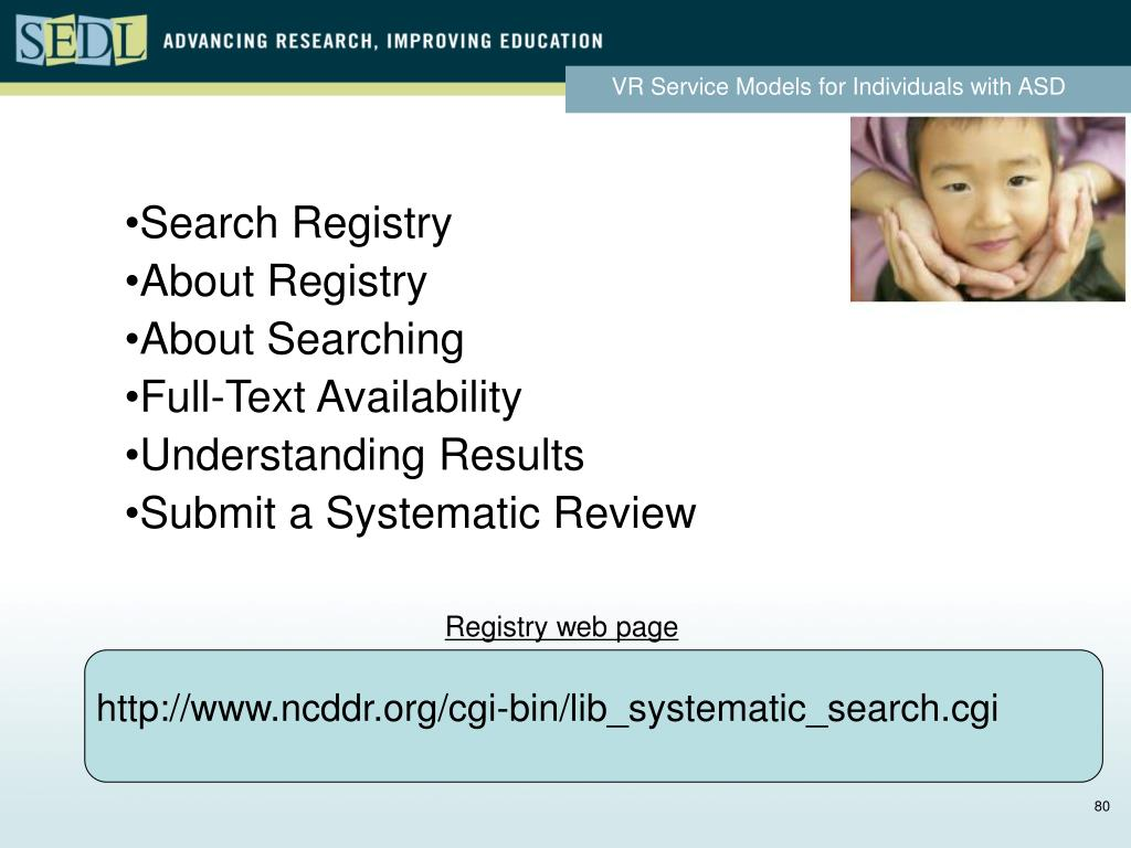 Search Registry