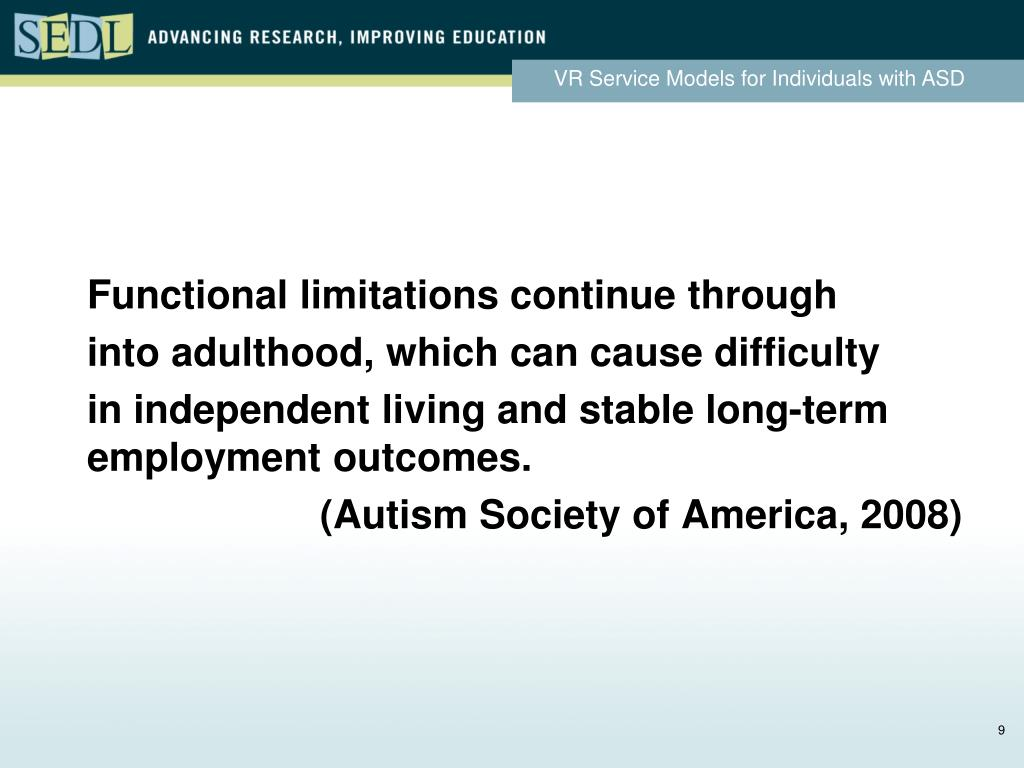 Functional limitations continue through
