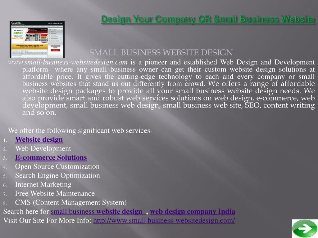 design your company or small business website l.