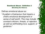 emotional abuse definition 2 breaking the silence