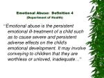 emotional abuse definition 4 department of health