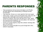 parents responses