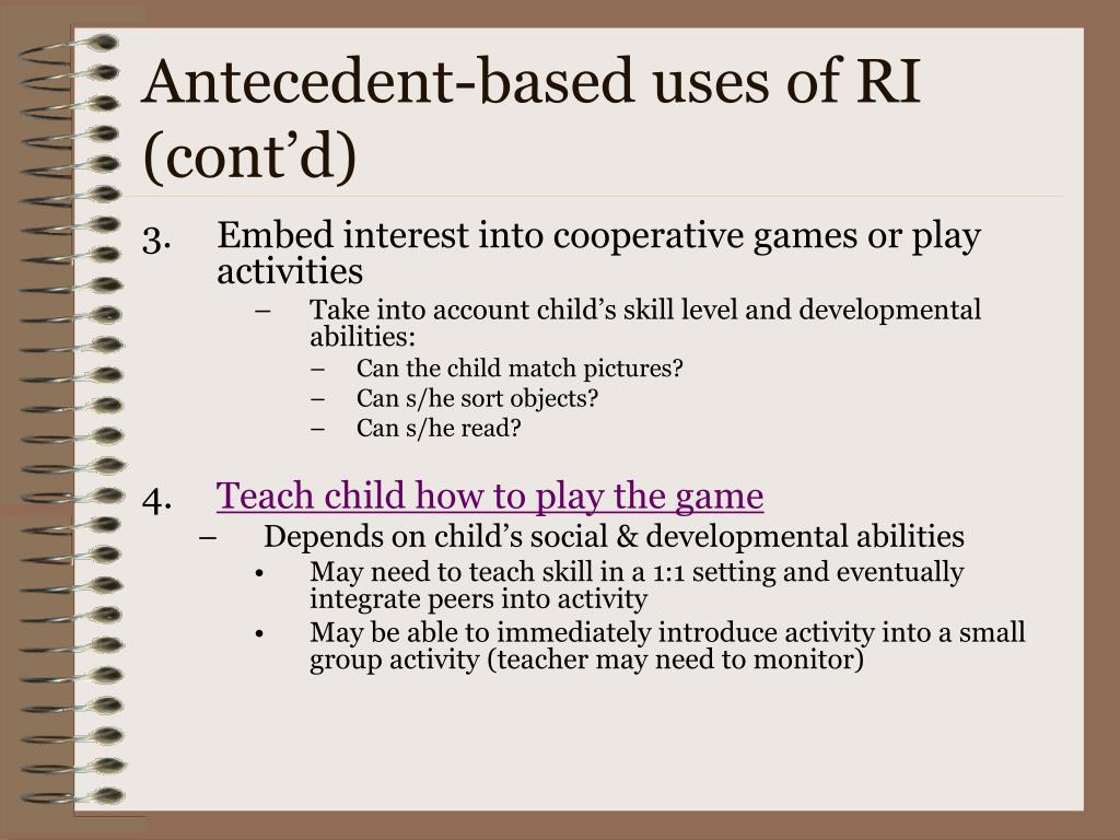 Antecedent-based uses of RI (cont'd)