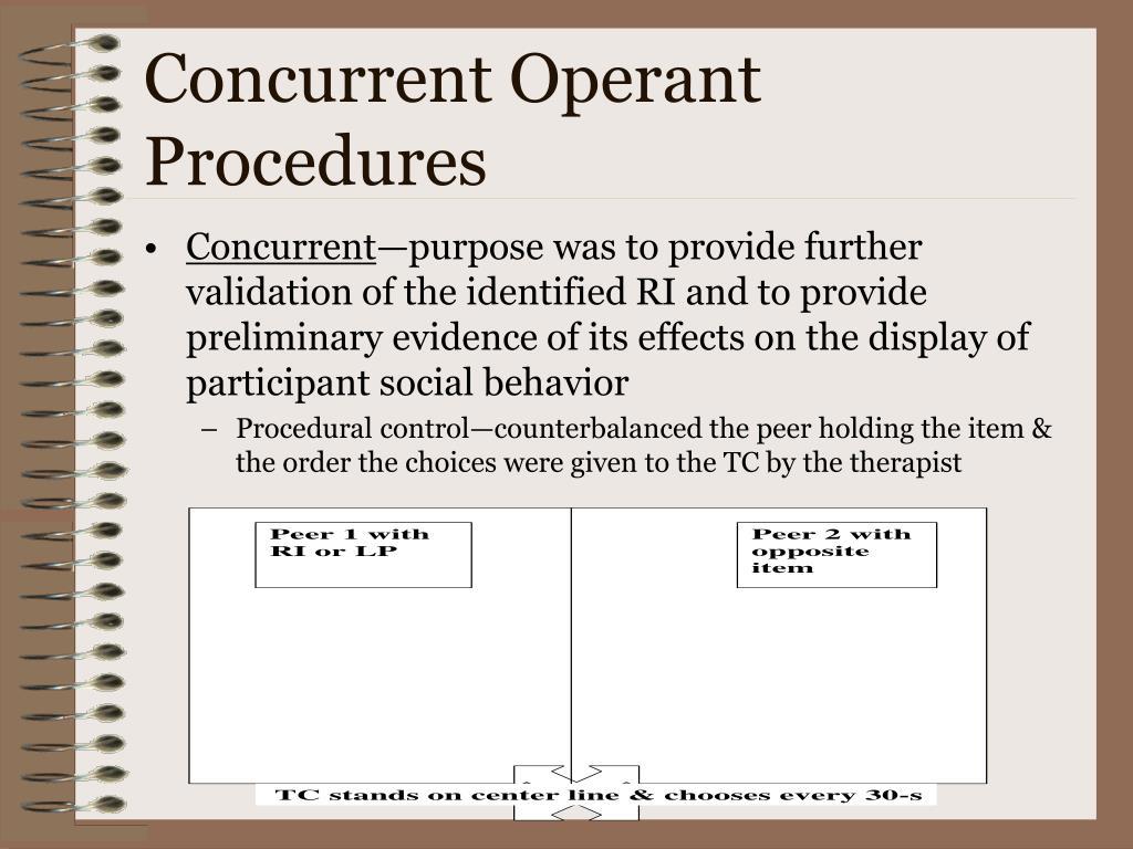 Concurrent Operant Procedures