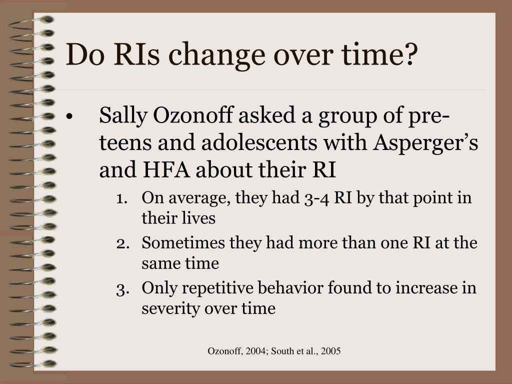 Do RIs change over time?
