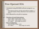 free operant ioa
