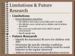 limitations future research