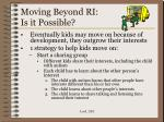 moving beyond ri is it possible