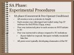 sa phase experimental procedures