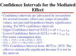 confidence intervals for the mediated effect