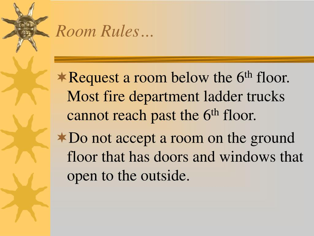Room Rules…