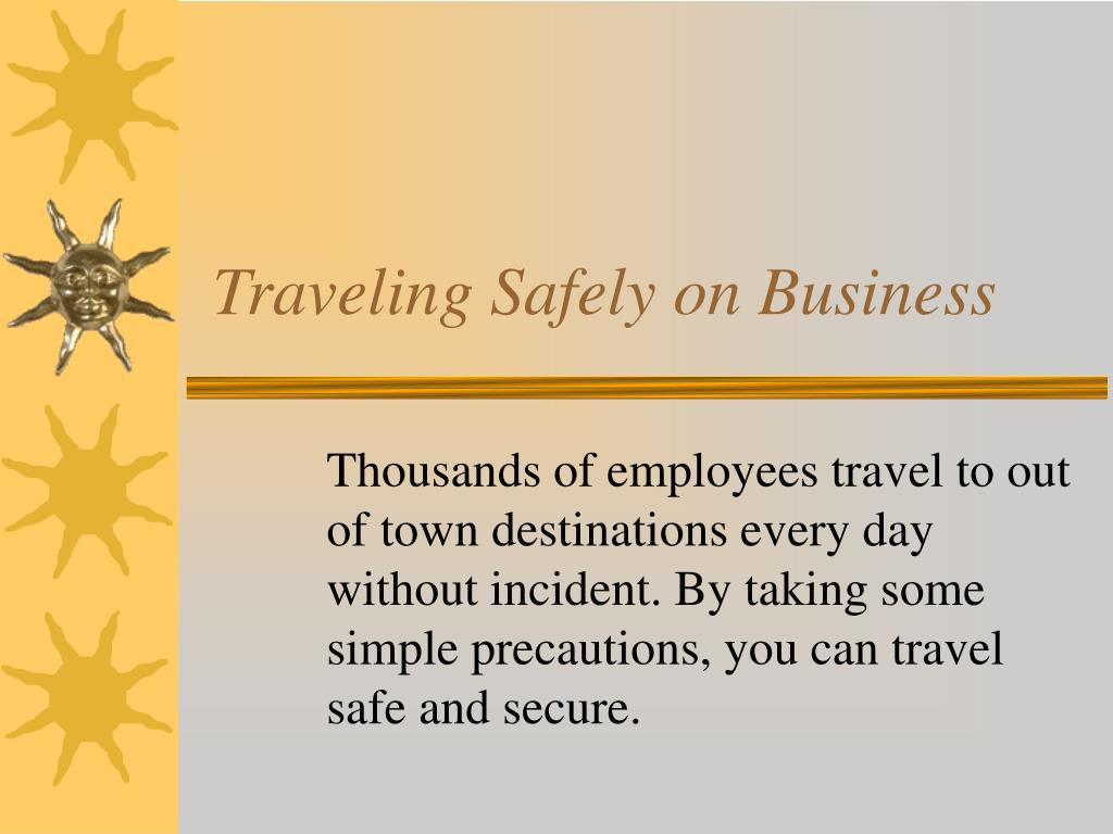 traveling safely on business l.