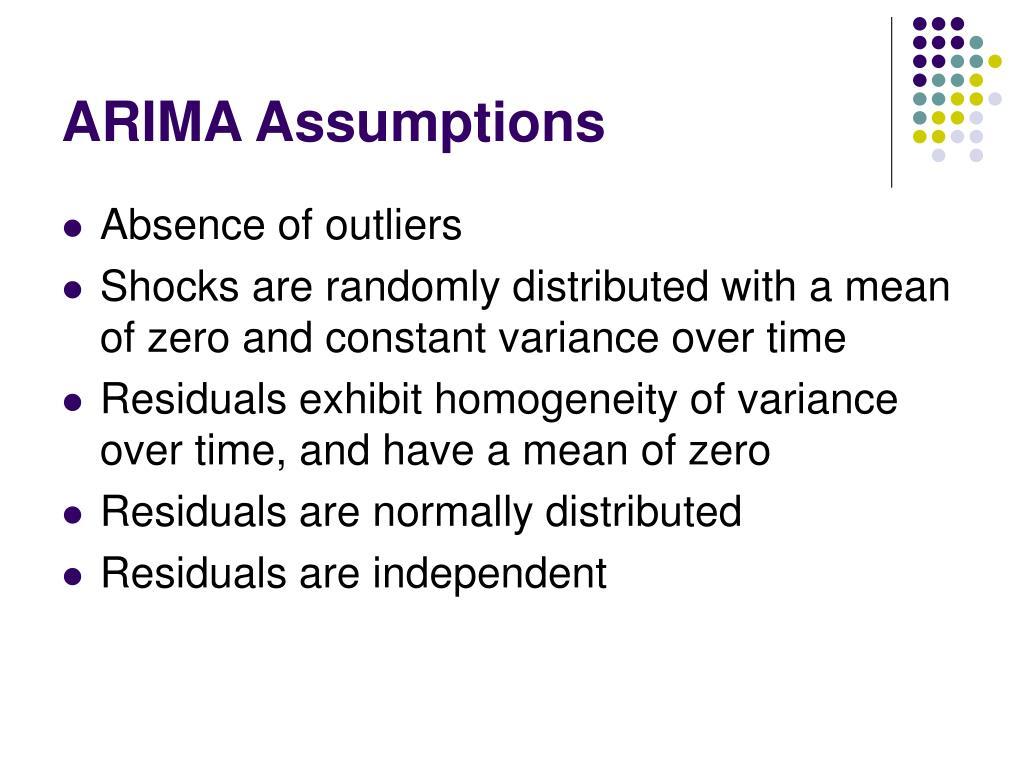 ARIMA Assumptions