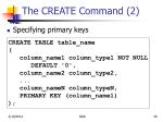 the create command 2