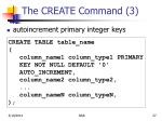 the create command 3