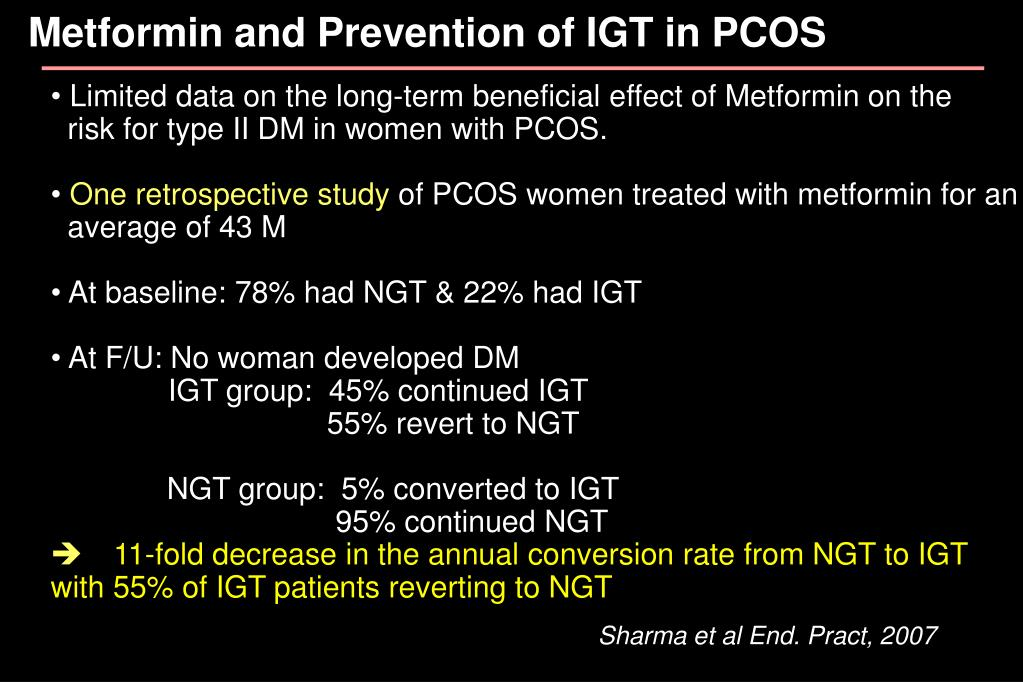 Metformin and Prevention of IGT in PCOS