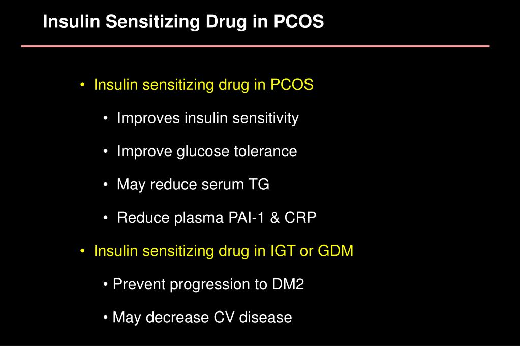 Insulin Sensitizing Drug in PCOS