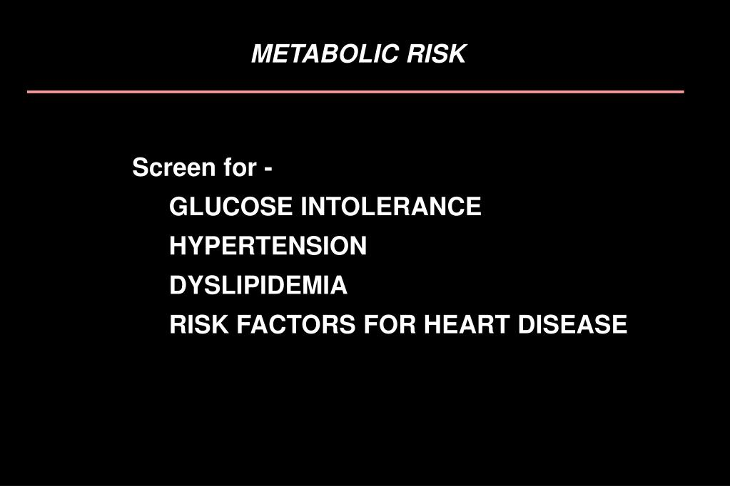 METABOLIC RISK