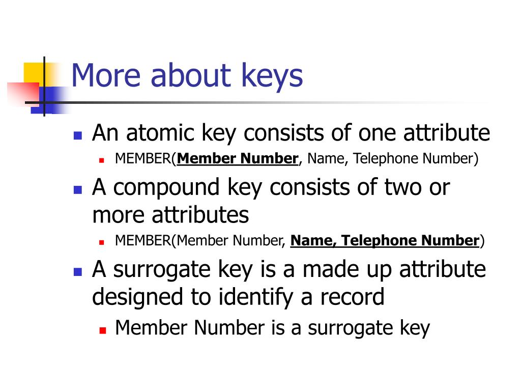 More about keys