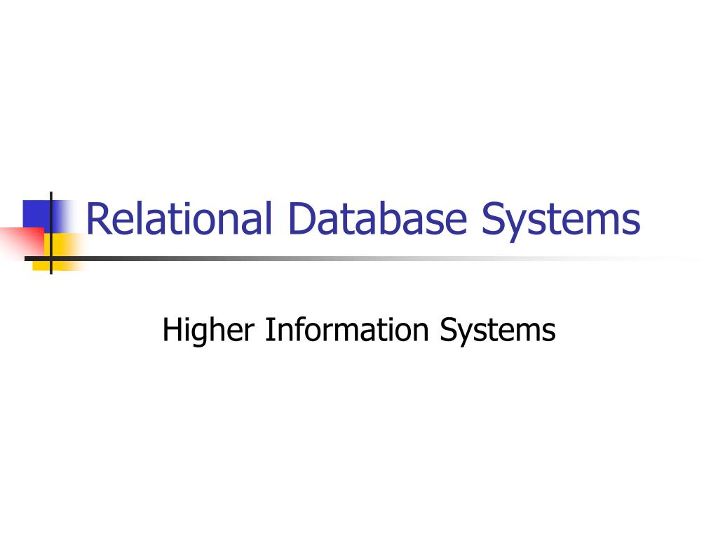 relational database systems l.