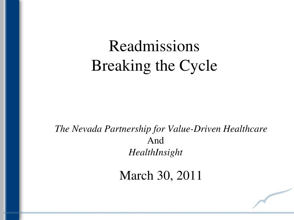 readmissions breaking the cycle l.