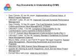 key documents in understanding evms