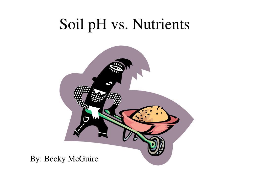 soil ph vs nutrients l.