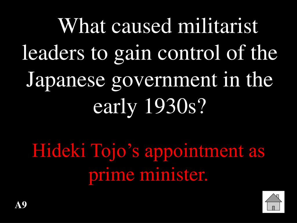 What caused militarist leaders to gain control of the Japanese government in the early 1930s?