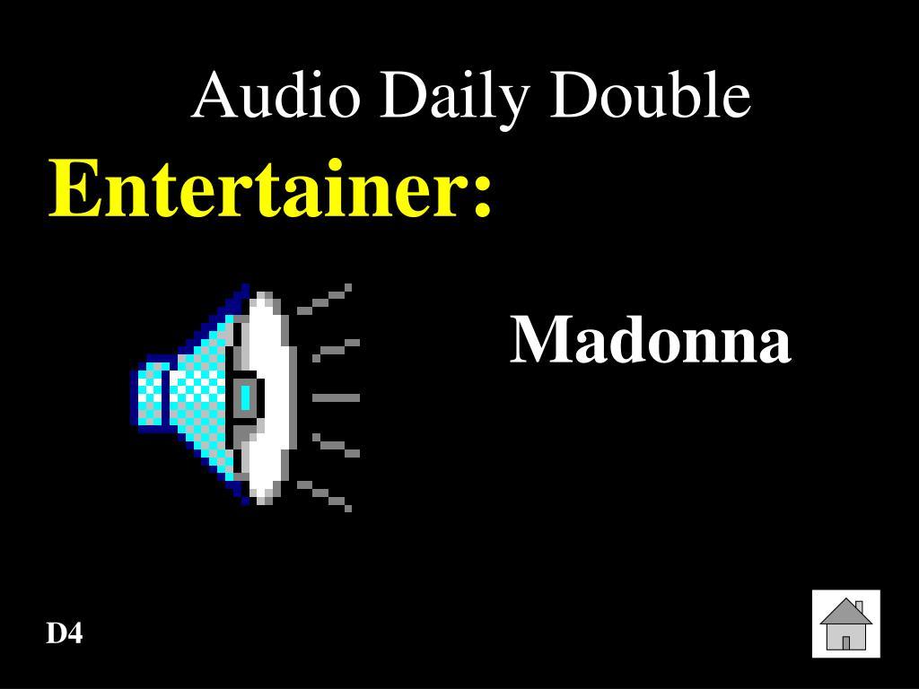 Audio Daily Double