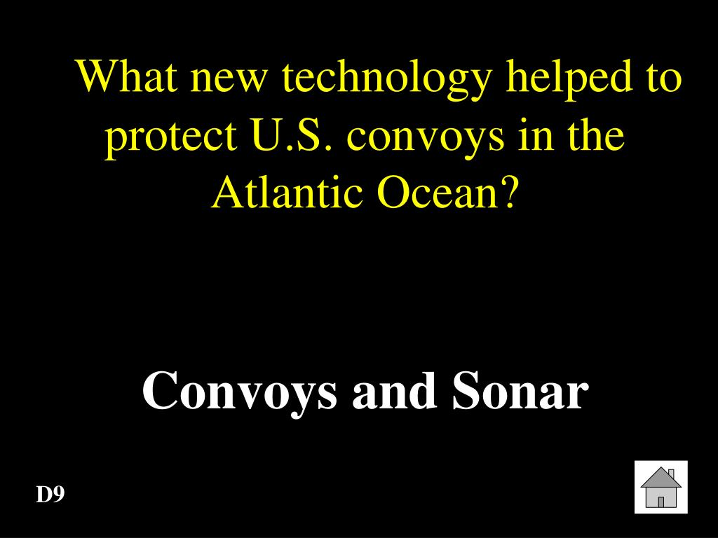 What new technology helped to protect U.S. convoys in the Atlantic Ocean?