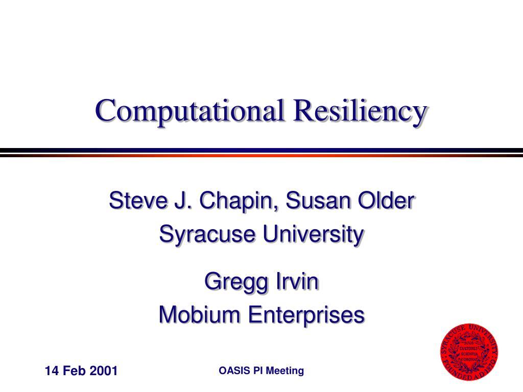 computational resiliency l.