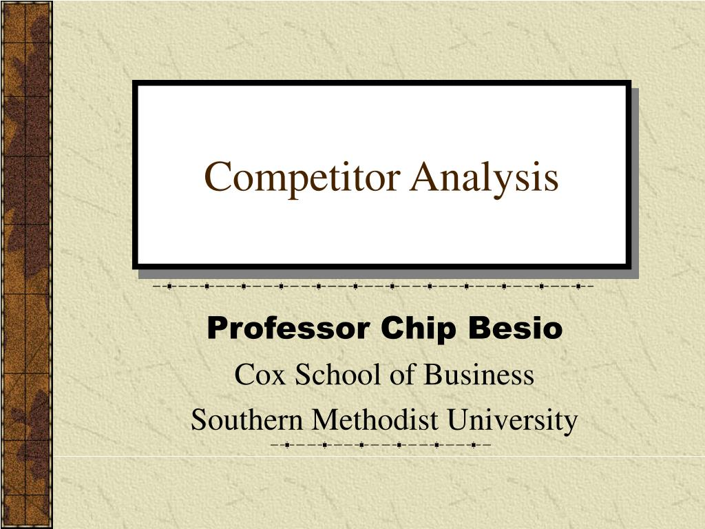 competitor analysis l.