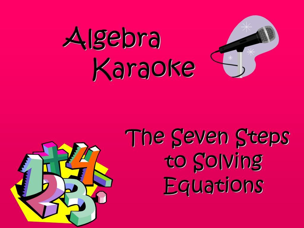 algebra karaoke l.