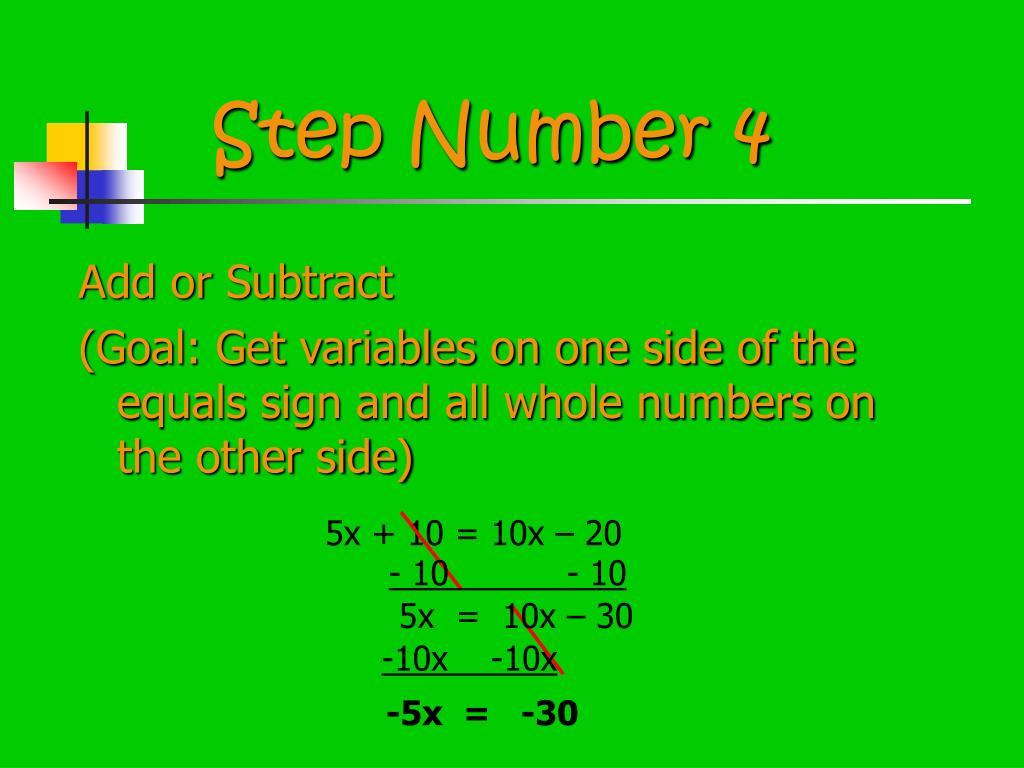 Step Number 4