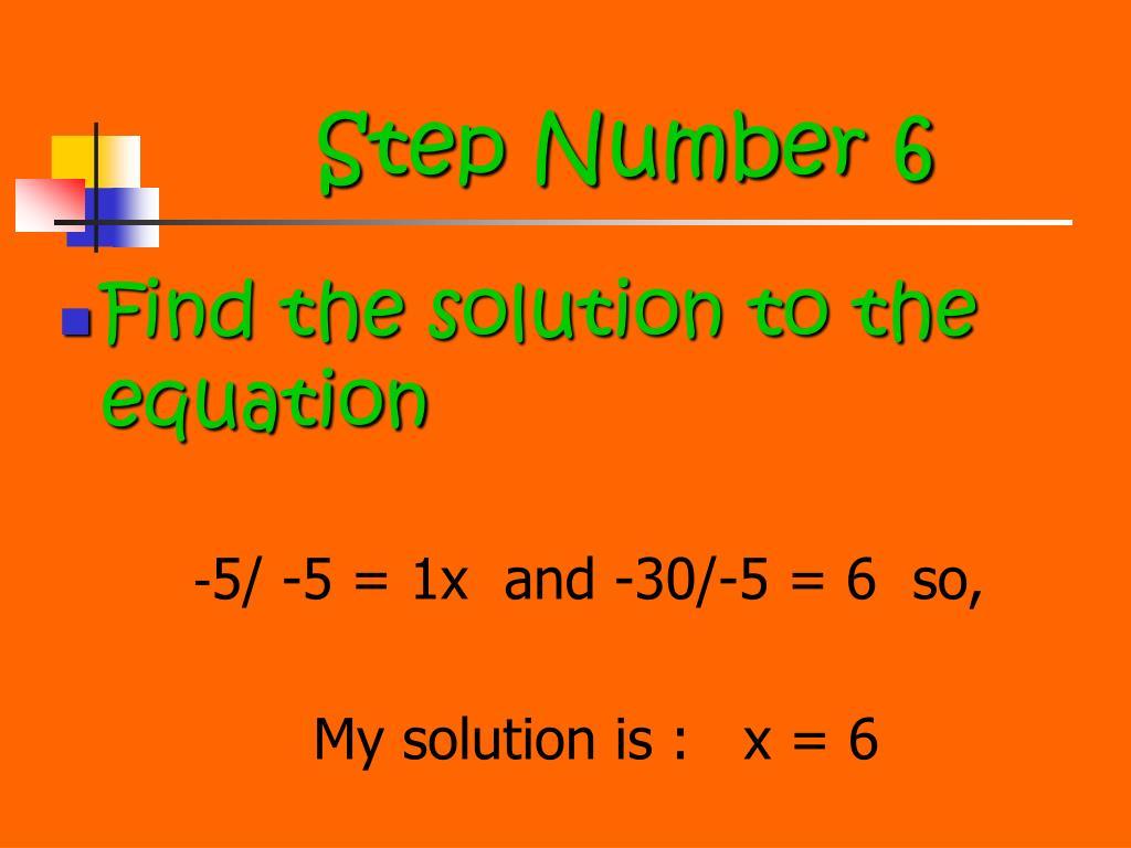Step Number 6