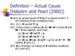 definition actual cause halpern and pearl 2000