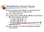 simplifying actual cause