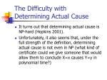 the difficulty with determining actual cause