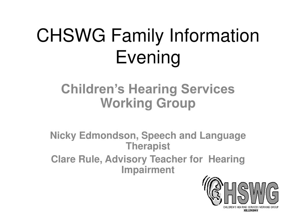 chswg family information evening l.