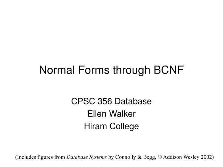 normal forms through bcnf n.